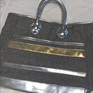 Isaac Mizrahi silver and gold larger bag